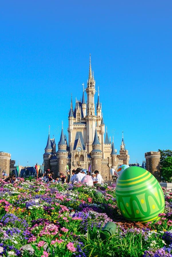 Mooie Cinderella Castle in Tokyo Disneyland, Tokyo, Japan royalty-vrije stock fotografie