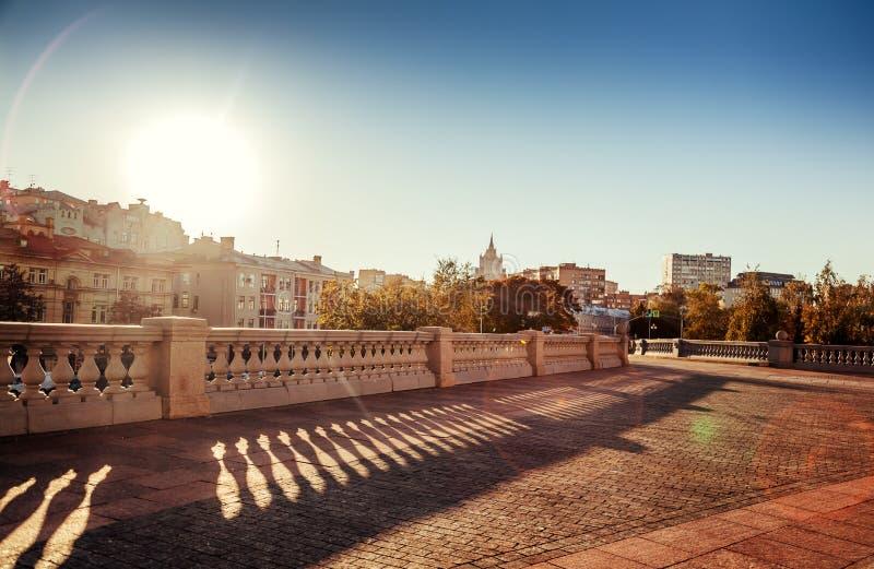 Mooie cityscape, de hoofdstad van Rusland, Moskou, stadscen stock foto's