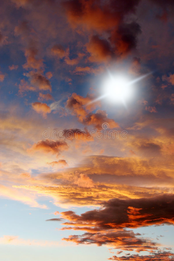 Mooie cloudscape royalty-vrije stock foto