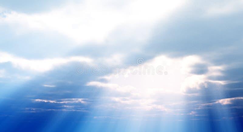 Mooie cloudscape royalty-vrije illustratie