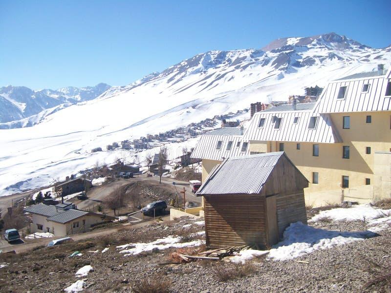 Mooie dag bij de Alpen stock afbeelding