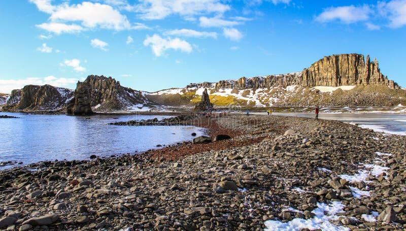 Mooie dag op de Zuid-Shetland-eilanden, Antarctica stock foto's