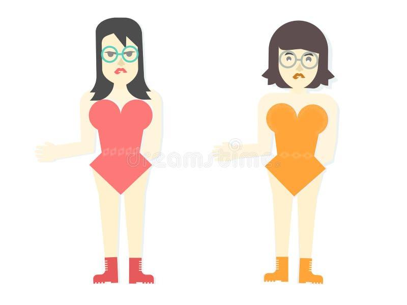 2 mooie dansers vector illustratie