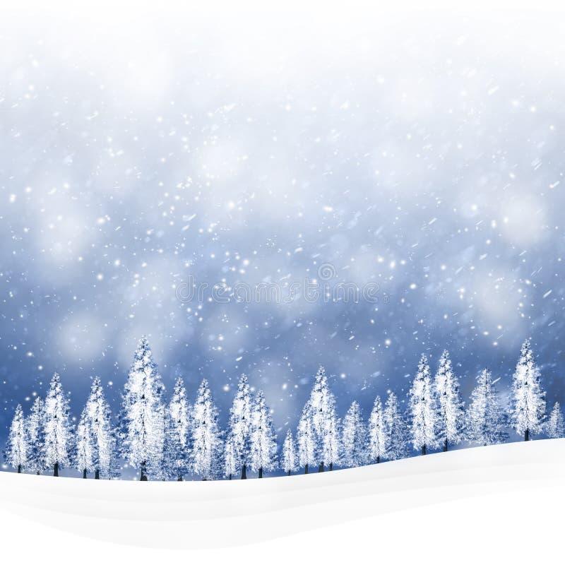 Mooie de aardachtergrond van de de wintervakantie vector illustratie