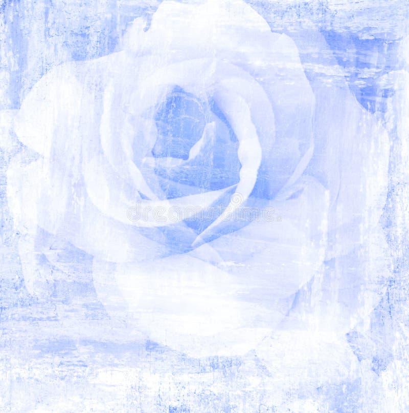 Mooie de bloem nam, de illustratie van de kunstverf voor achtergrond toe stock illustratie
