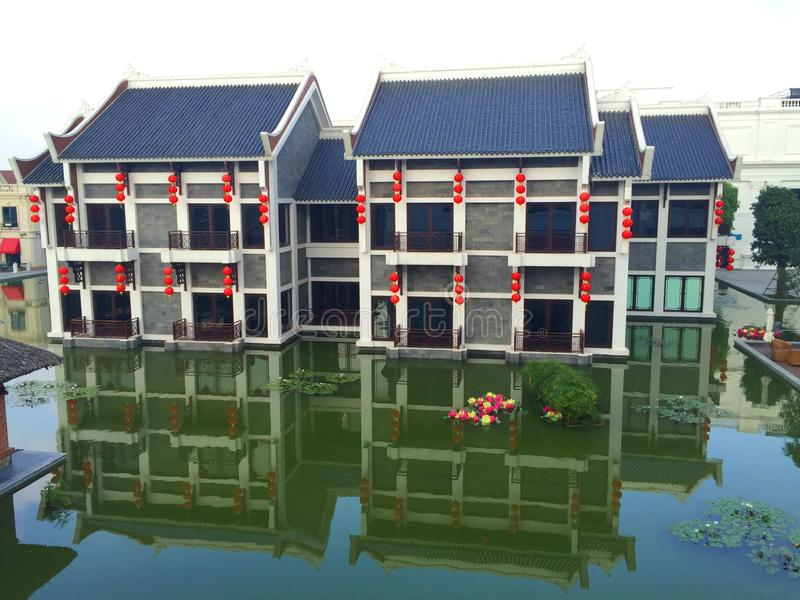 Mooie de bouwarchitectuur - Hanoi, Vietnam April 2014 stock foto's