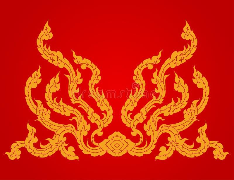 Mooie de cultuurstijl van het kunstpatroon op een rode vector vector illustratie