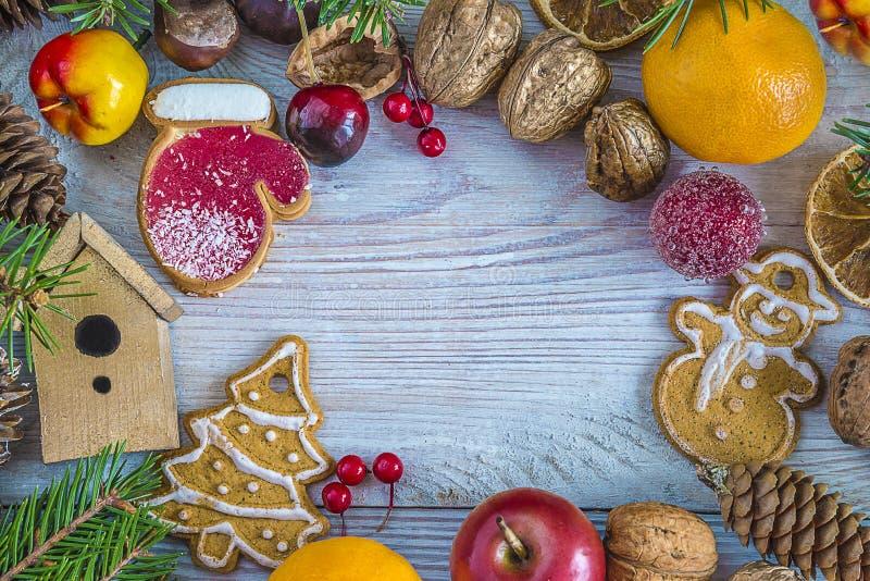 Mooie de groetkaart van de Kerstmisvakantie royalty-vrije stock foto