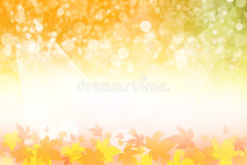 Mooie de herfstachtergrond vector illustratie