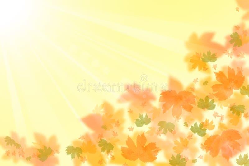 Mooie de herfstachtergrond stock illustratie