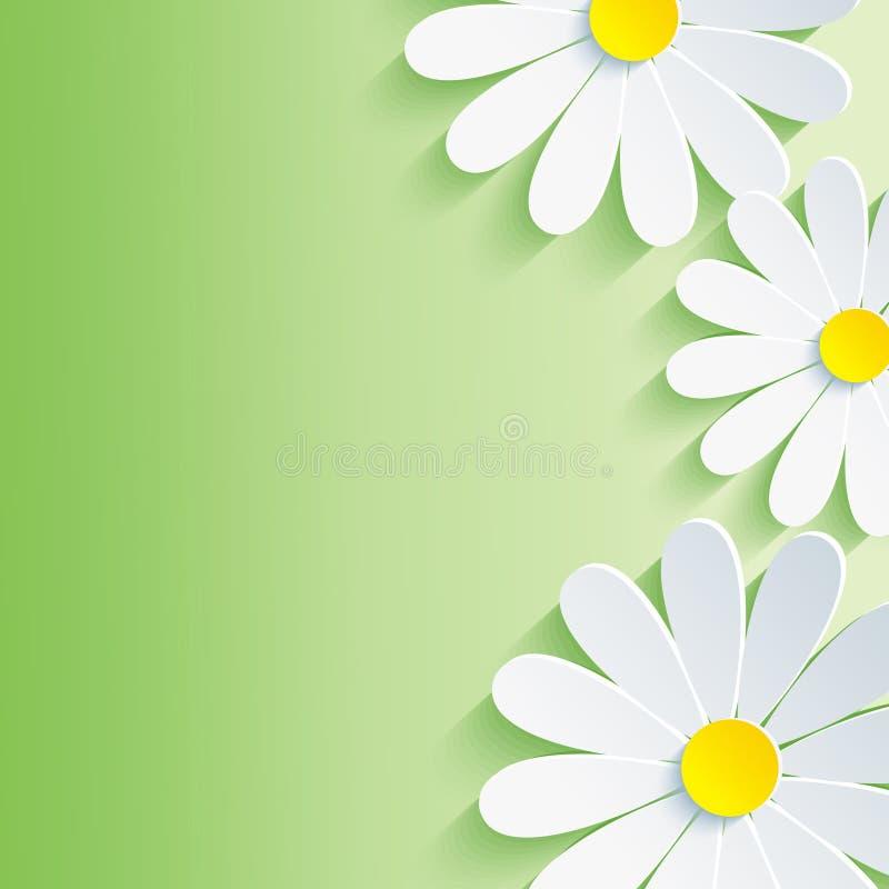Mooie de lente abstracte achtergrond, 3d bloem CH stock illustratie
