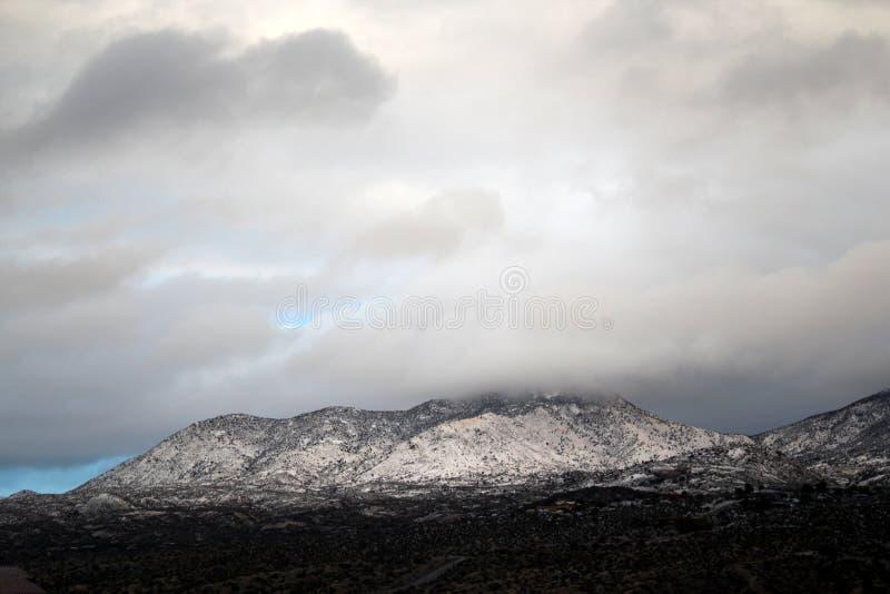Mooie de winterdag in de sneeuw behandelde bergen in Tucson Arizona royalty-vrije stock foto