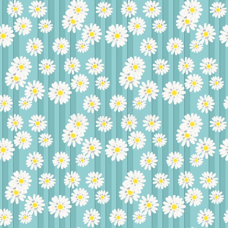 Mooie de zomerachtergrond met madeliefjesbloemen Bloemen naadloos patroon Vector illustratie EPS10 vector illustratie