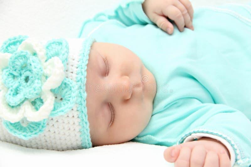 Mooie slaapbaby royalty-vrije stock afbeeldingen