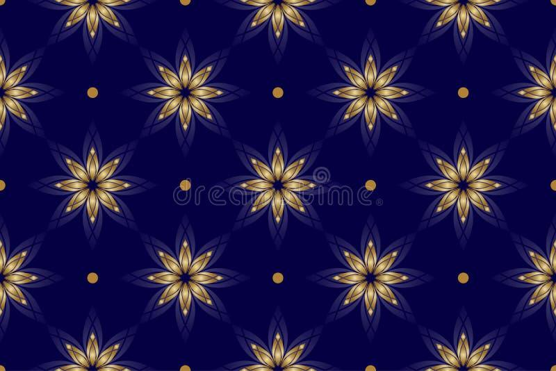 Mooie donkerblauwe naadloze textuur royalty-vrije illustratie
