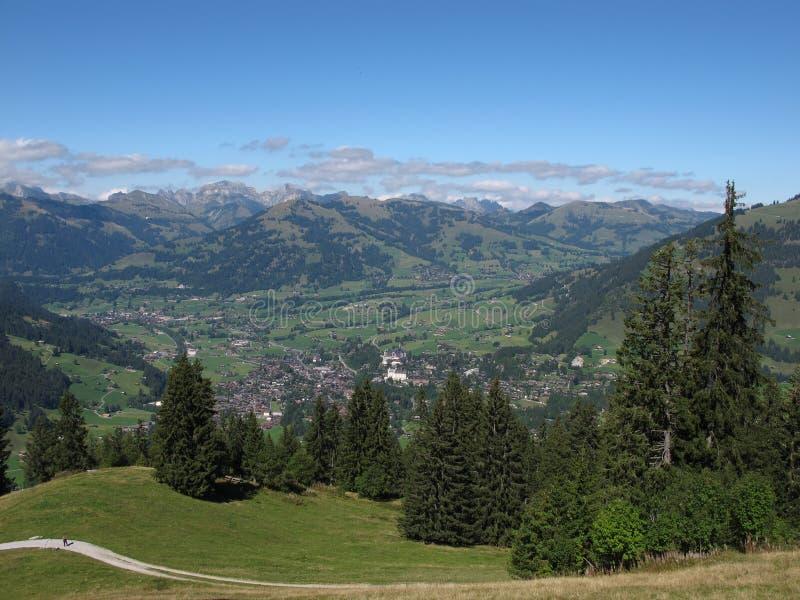Mooie Dorpen Gstaad en Saanen royalty-vrije stock foto's