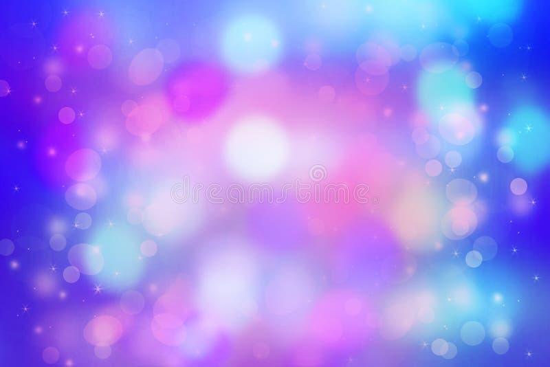 Mooie dromerige achtergrond met bokehlichten stock fotografie
