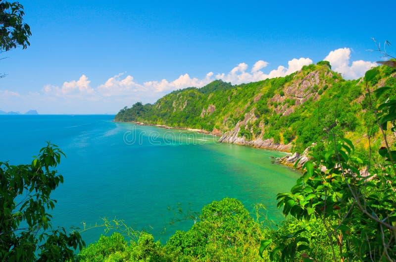 Mooie eilandkoh Ngai. Thailand stock afbeeldingen