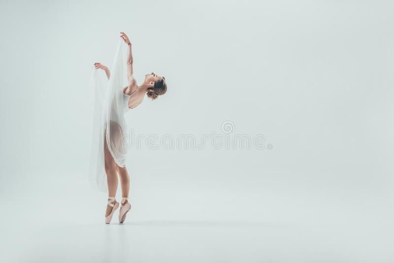 mooie elegante ballerina die in studio dansen royalty-vrije stock foto