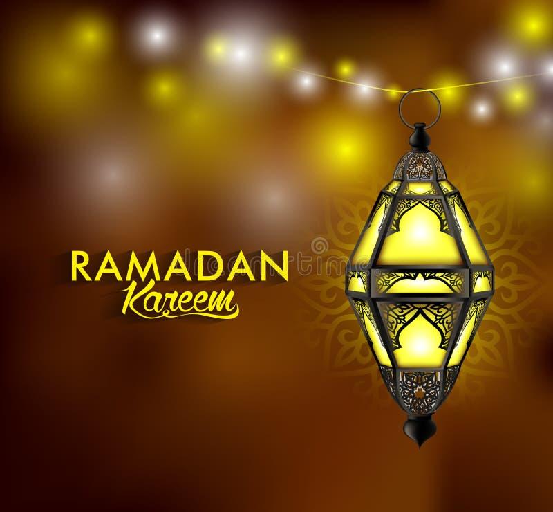 Mooie Elegante Ramadan Kareem Lantern of Fanous royalty-vrije illustratie