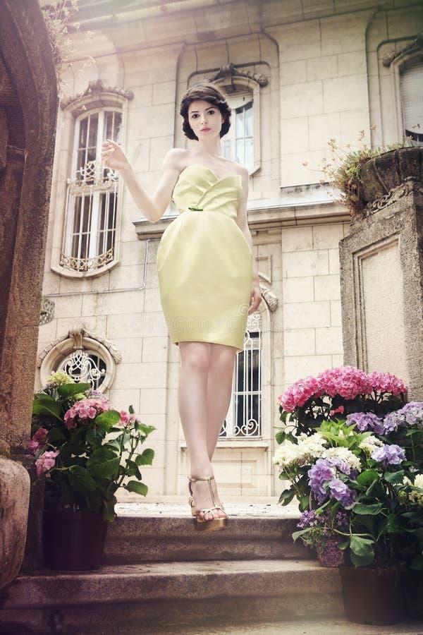 Mooie elegante vrouw stock afbeelding