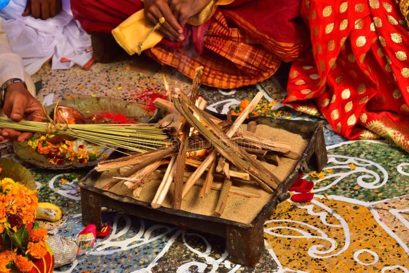 Mooie en heilige geschikte plaats voor vedic huwelijk royalty-vrije stock afbeeldingen