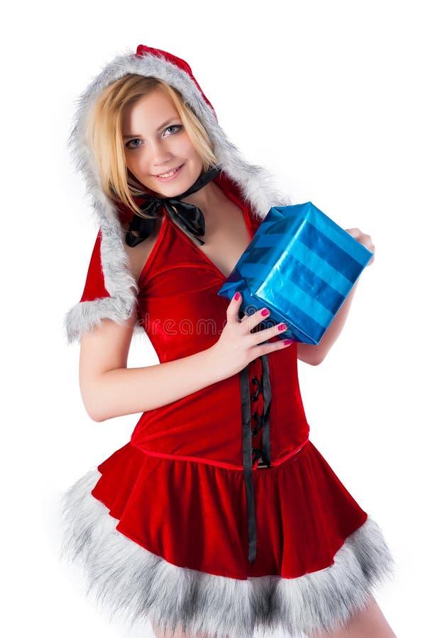 Mooie en sexy Kerstmisvrouw stock fotografie