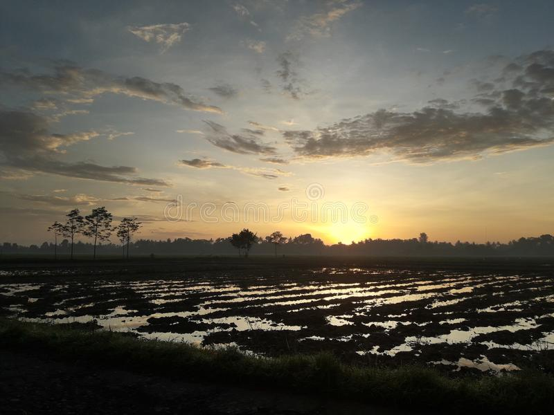 Mooie en verbazende zonsopgang van vandaag royalty-vrije stock afbeeldingen