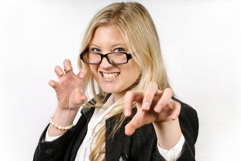 Mooie enge blonde vrouw royalty-vrije stock foto