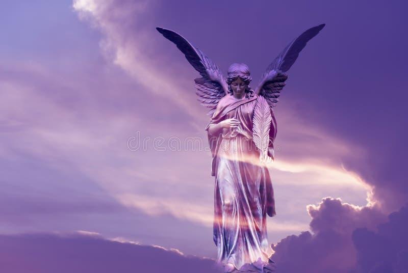 Mooie engel in hemel stock foto's