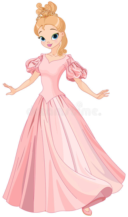 Mooie Fairytale-Prinses royalty-vrije illustratie