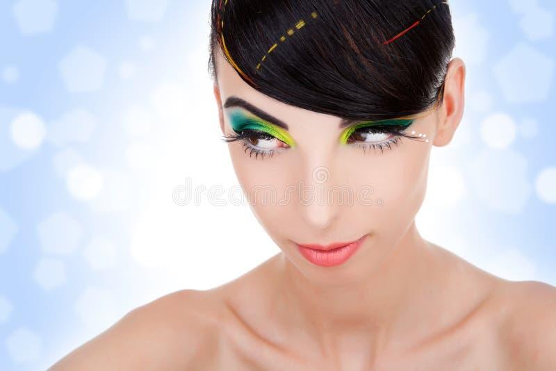 Mooie famale met schone huid stock foto's