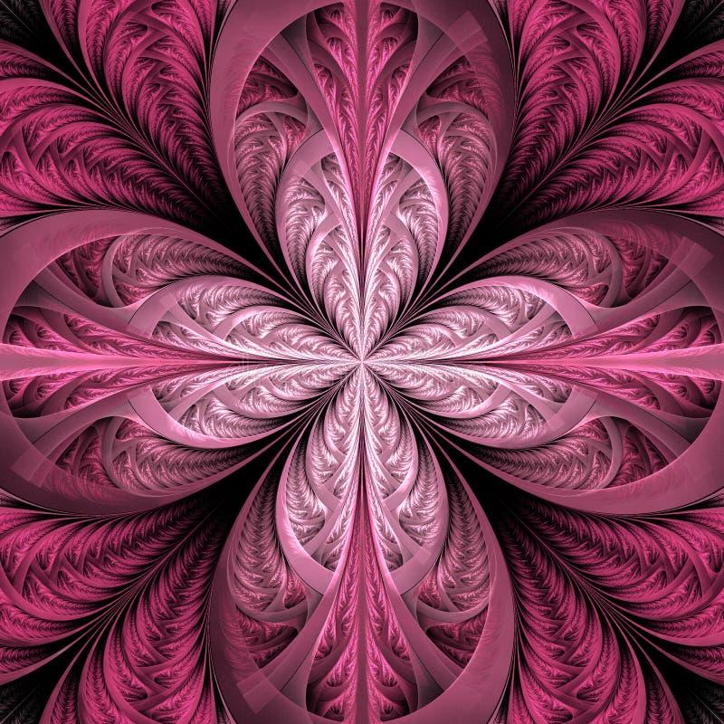 Mooie fractal bloem Inzameling - ijzig patroon U kunt het voor uitnodigingen, notitieboekjedekking, telefoongeval, prentbriefkaar vector illustratie