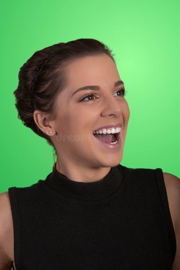 Mooie gelukkige jonge vrouw royalty-vrije stock foto's