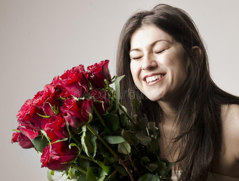 Mooie gelukkige vrouw royalty-vrije stock afbeelding
