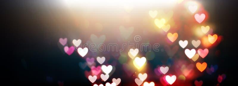 Download Mooie Glanzende Harten En Abstracte Lichten Stock Illustratie - Illustratie bestaande uit magisch, dromerig: 107706808