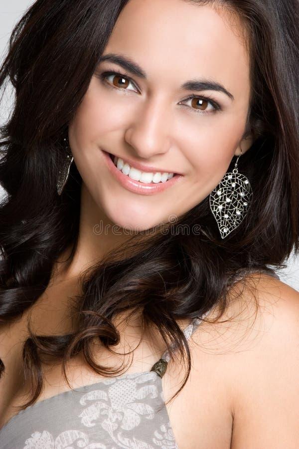 Mooie Glimlachende Vrouw stock foto