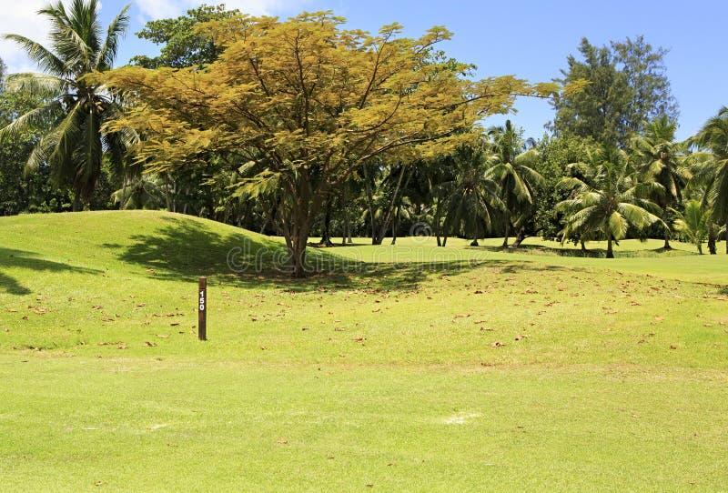 Mooie golfcursus in Constance Lemuria royalty-vrije stock foto