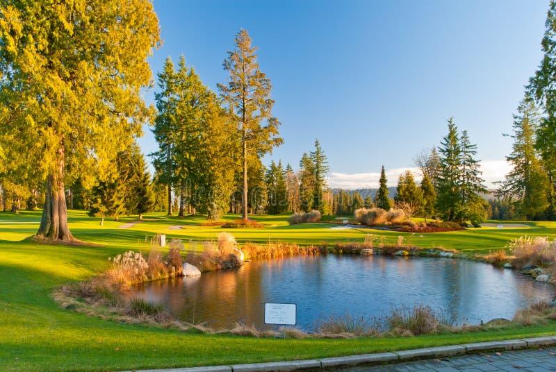 Mooie golfplaats. royalty-vrije stock fotografie