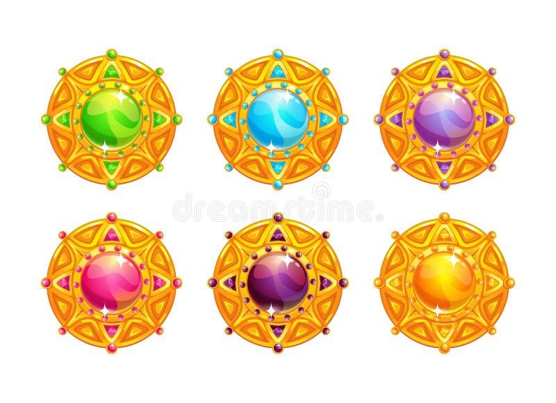 Mooie gouden amuletten vector illustratie