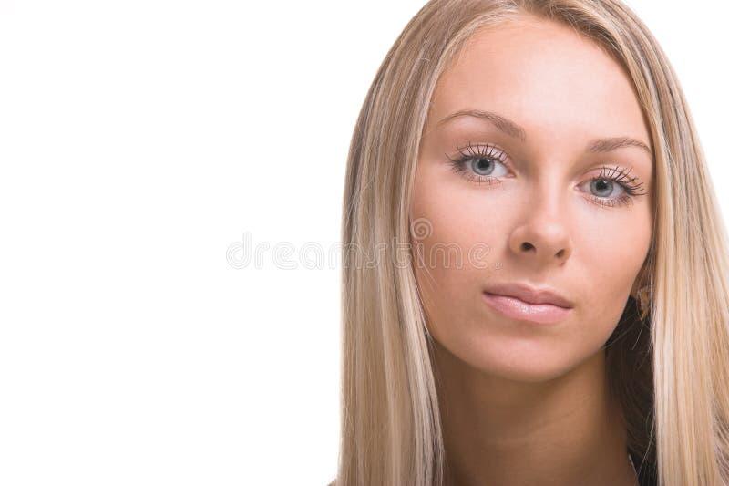 Mooie grijze ogen royalty-vrije stock foto