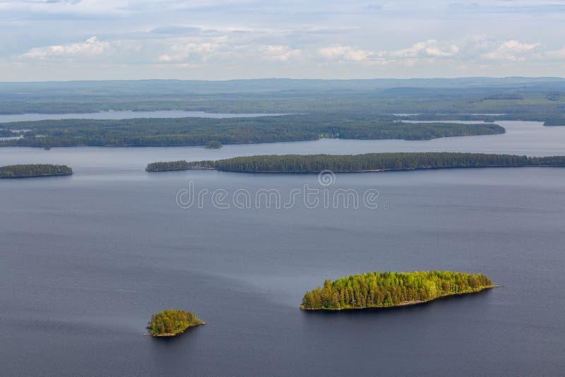 Mooie groene eilanden royalty-vrije stock foto