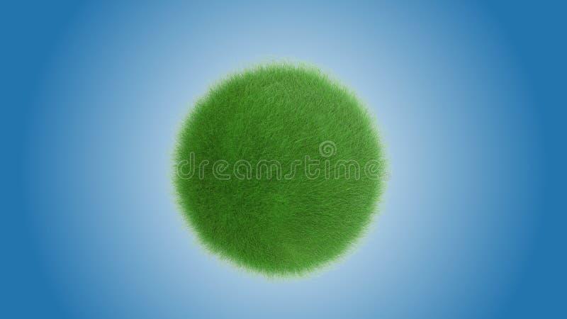 Mooie groene grasplaneet stock afbeelding