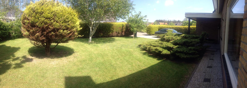 Mooie groene tuin stock photography
