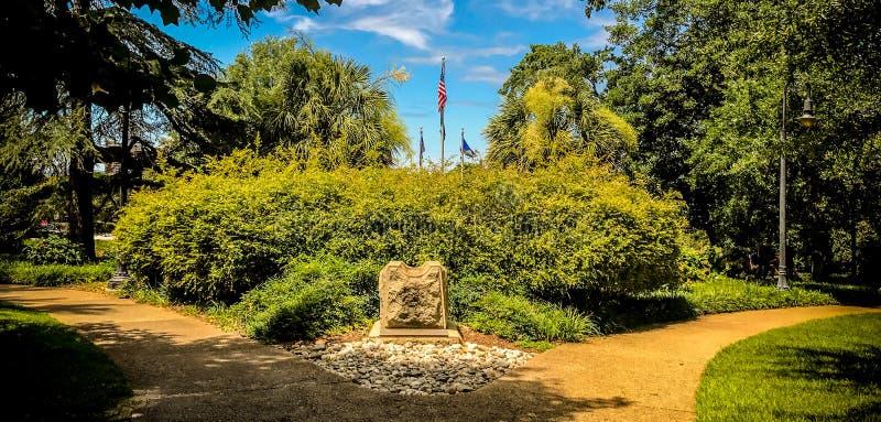 Mooie Gronden en Monumenten bij het Zuiden Carolina State House in Colombia, Zuid-Carolina stock fotografie