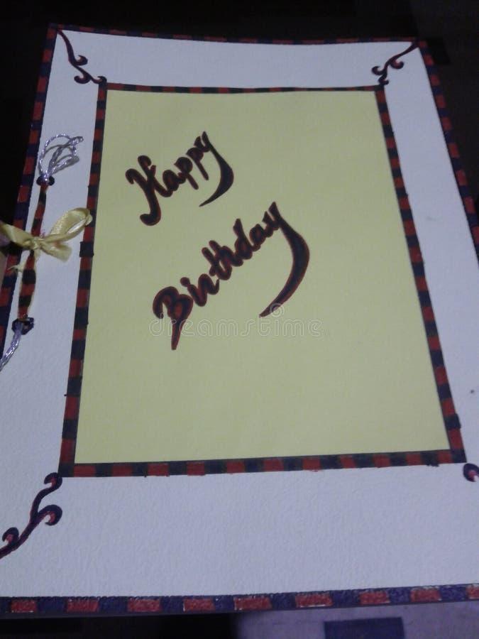Mooie hand - gemaakte uitnodigingskaart royalty-vrije stock afbeelding