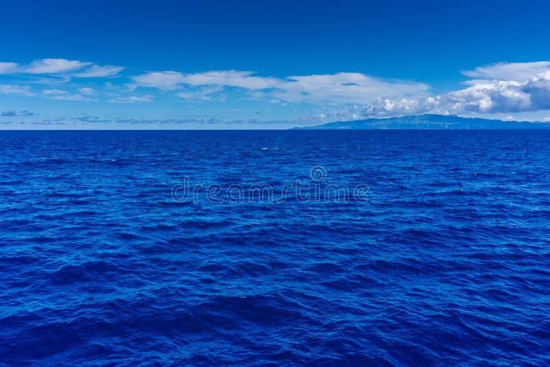 Mooie hemel en blauwe oceaan stock foto