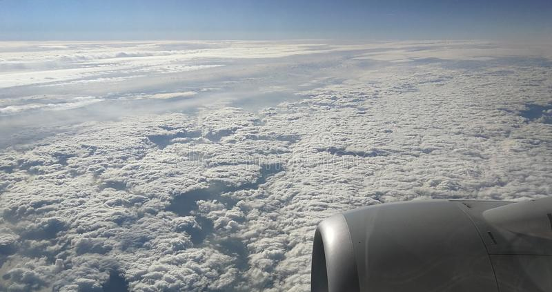 Mooie hemel en wolken stock afbeelding