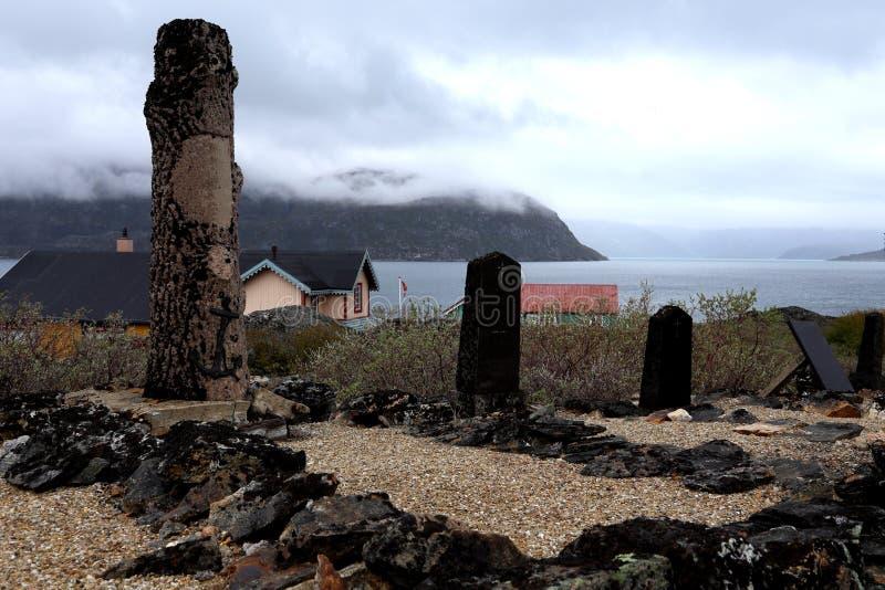 Mooie het achtervolgen Groenland begraafplaats stock afbeeldingen