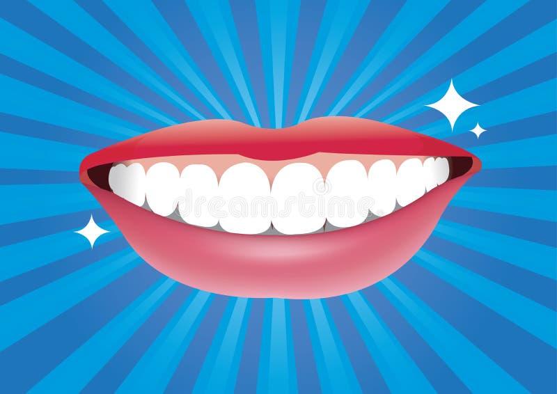Mooie het glimlachen mond met goede gezond stock illustratie